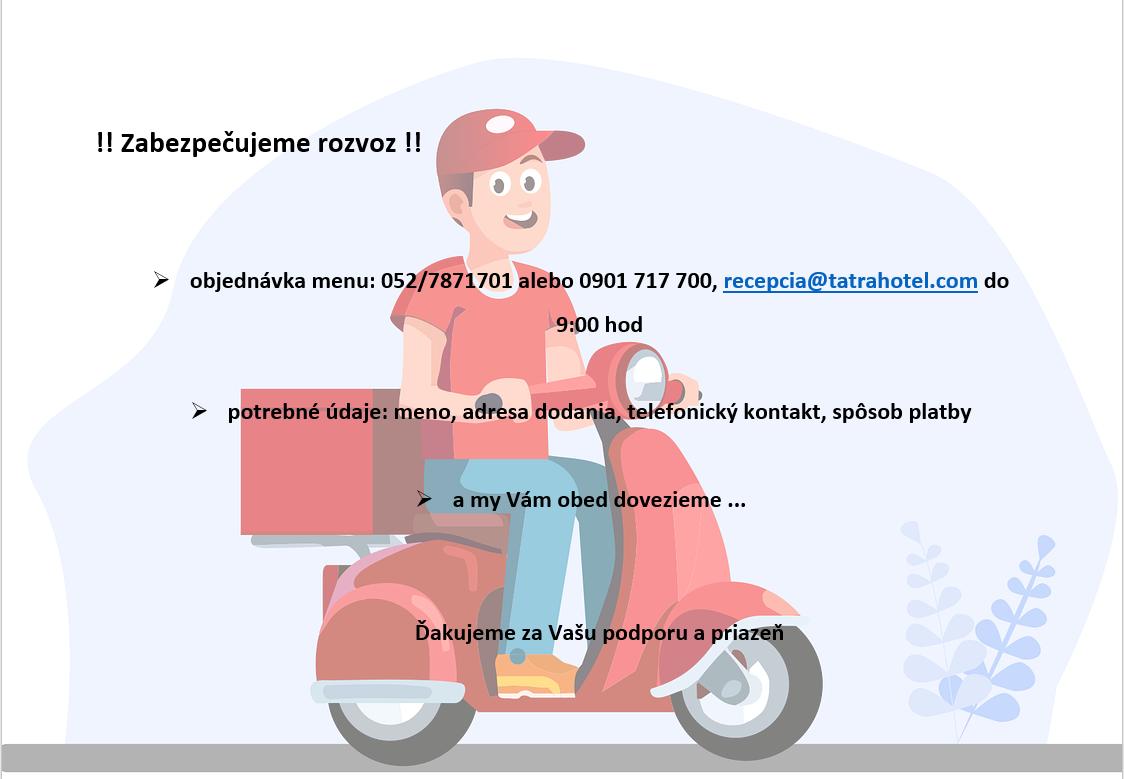 rozvoz menu
